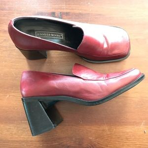 Vtg 90s Chunky Leather Loafers by Jennifer Moore